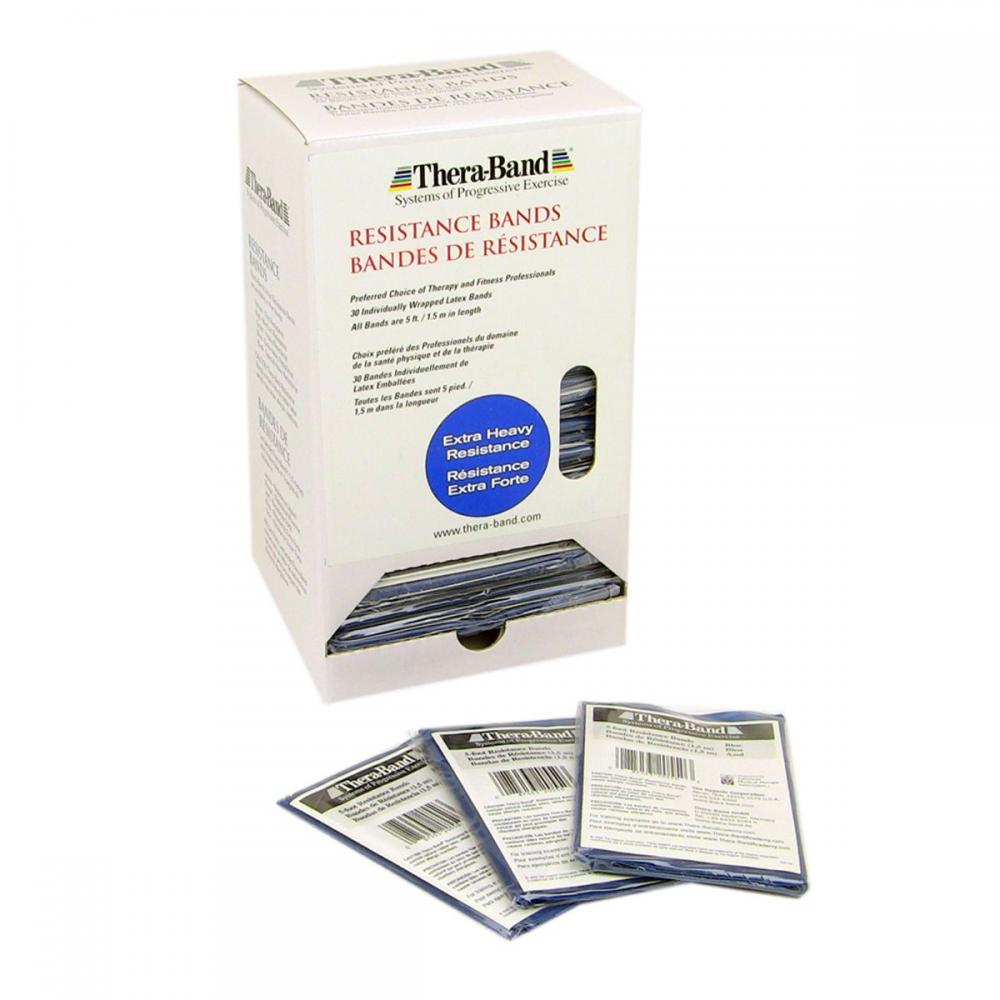 TheraBand Professional Latex Resistance Bands - 30 Band Dispenser - Heavy Blue