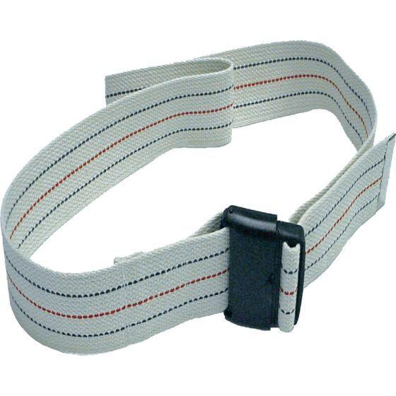 "Secured Quick Release Gait Belt (60"" canvas striped)(w/ quick release)"