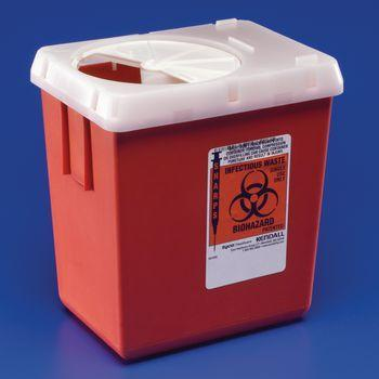 Sharps Disposal - Gallon, Horizontal-Drop Opening Lid