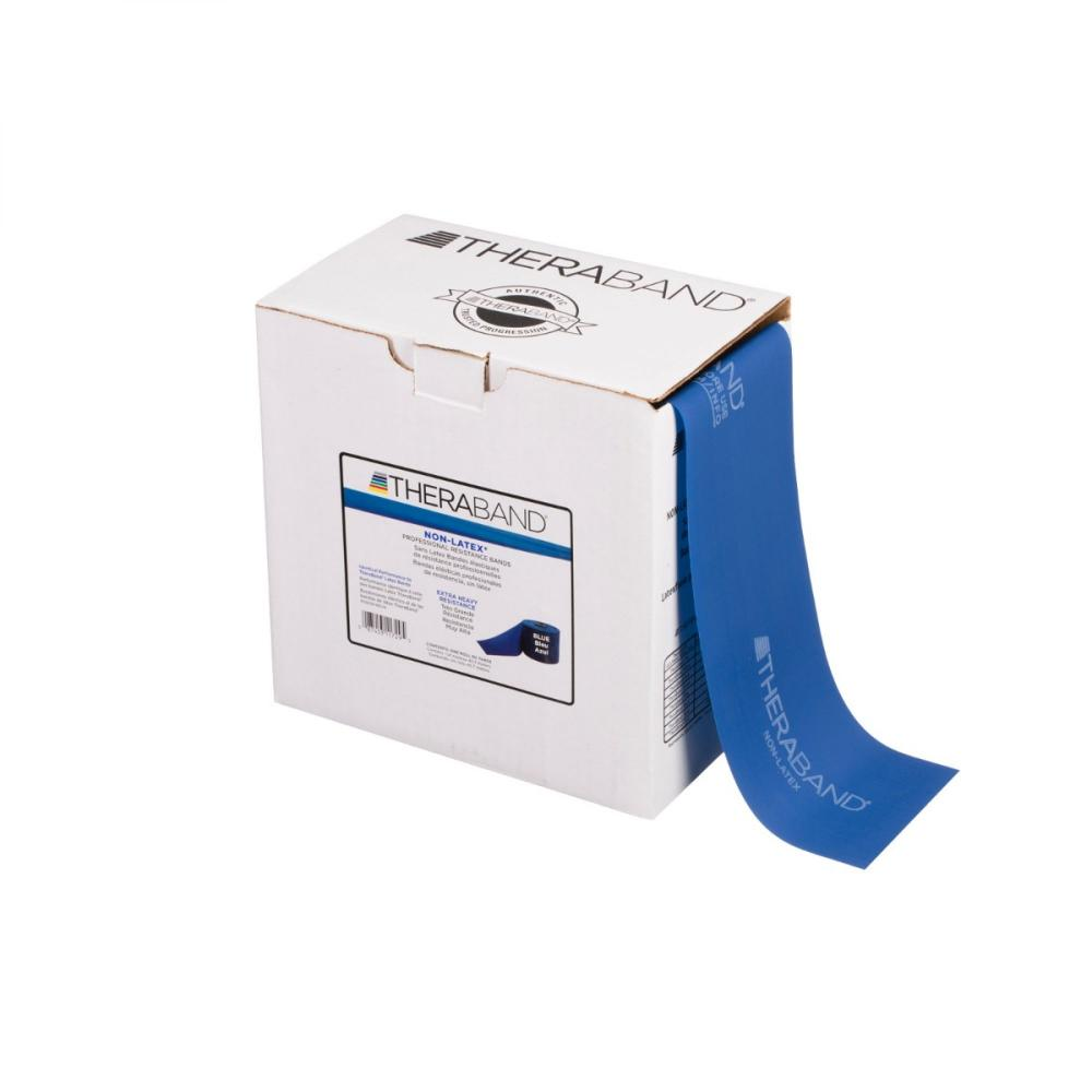 TheraBand Professional Non-Latex Resistance Bands - Level 4 - Blue - 50-Yard Box