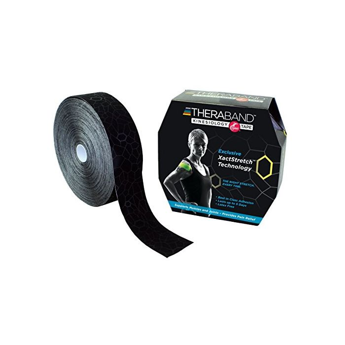 TheraBand Kinesiology Tape, Bulk Roll - 2 in. x 103.3' ft. Roll - Black/Black