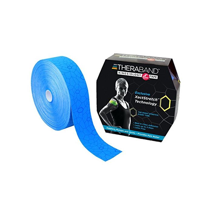 TheraBand Kinesiology Tape, Bulk Roll - 2 in. x 103.3' ft. Roll - Blue/Blue