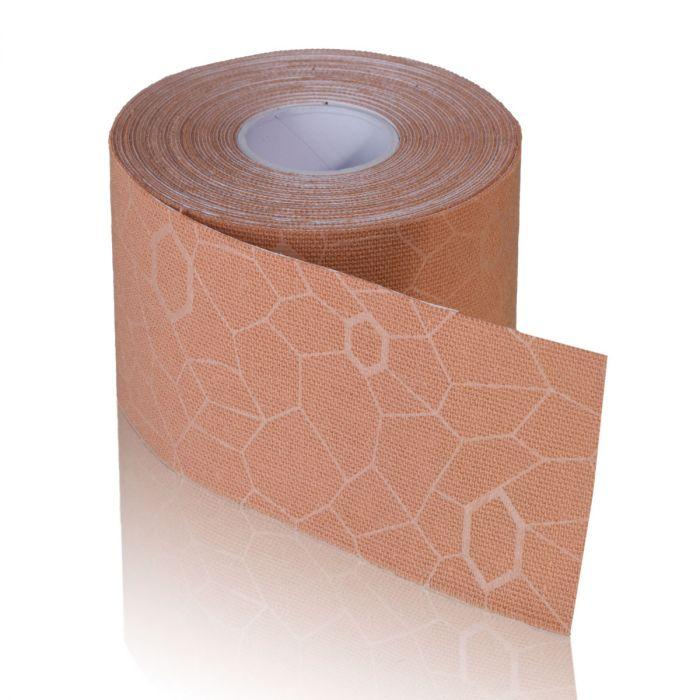 TheraBand Kinesiology Tape - 2 in. x 16.4 ft. Roll - Beige/Beige Print