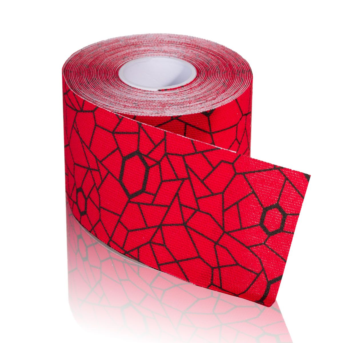TheraBand Kinesiology Tape - (1) 2 in. x 16.4 ft. Roll - Red/Black