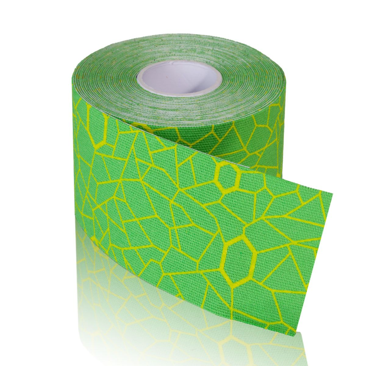 TheraBand Kinesiology Tape - (1) 2 in. x 16.4 ft. Roll - Green/Yellow