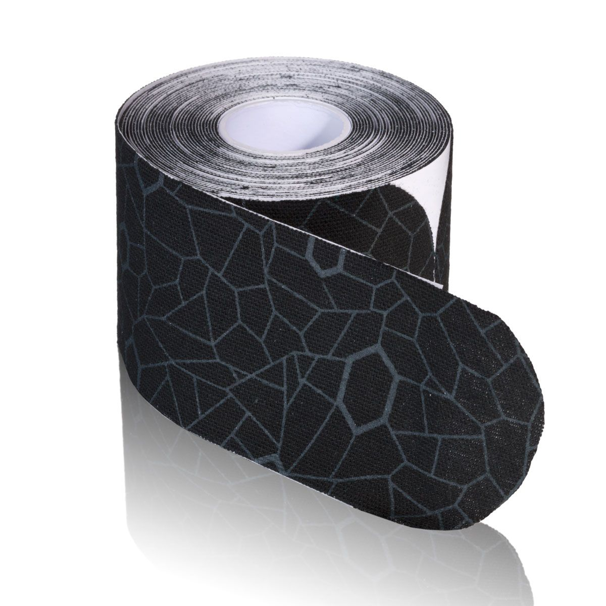 TheraBand Kinesiology Tape, 20 pack, 2 in x 10 in, Black/Grey