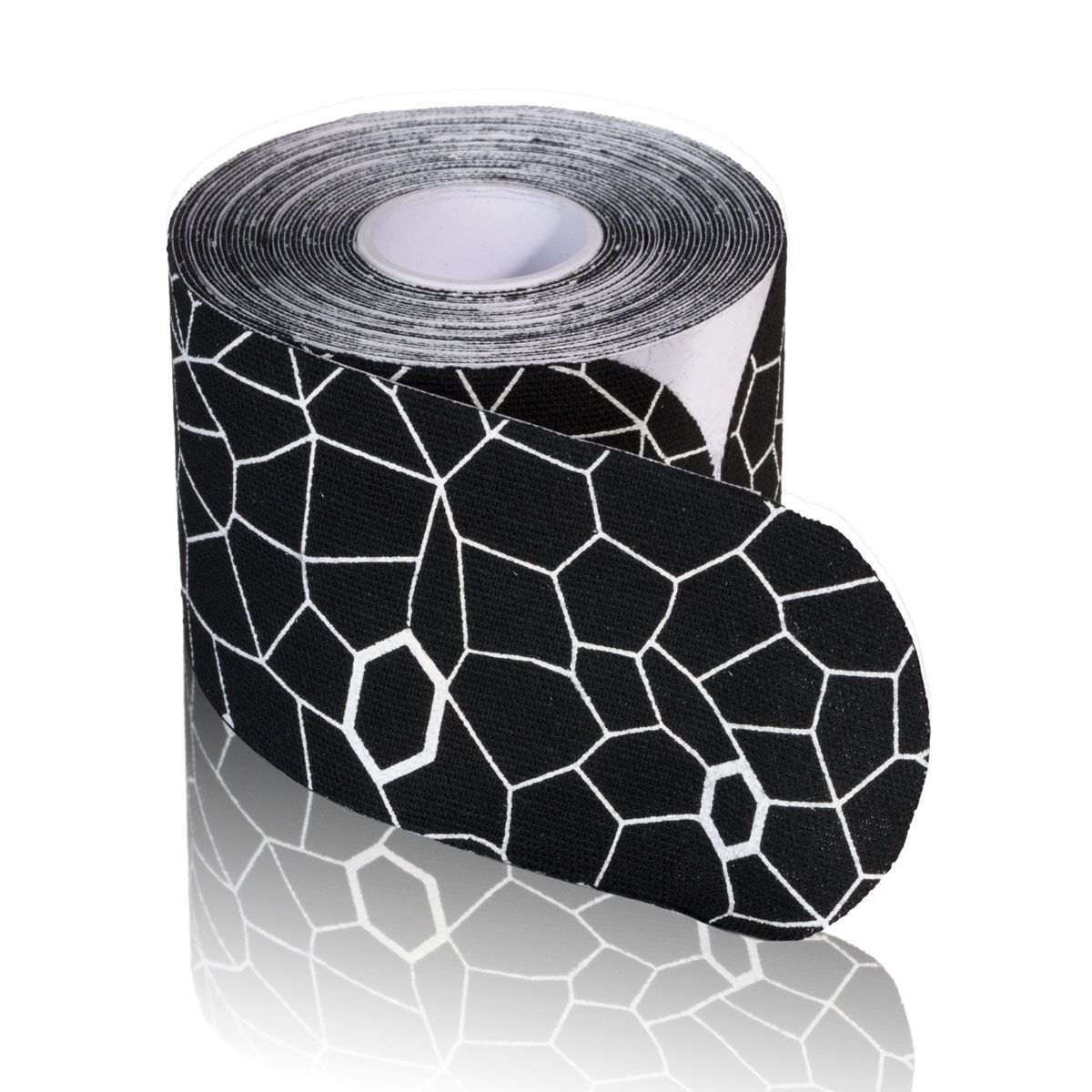 TheraBand Kinesiology Tape, 20 pack, 2 in x 10 in, Black/White