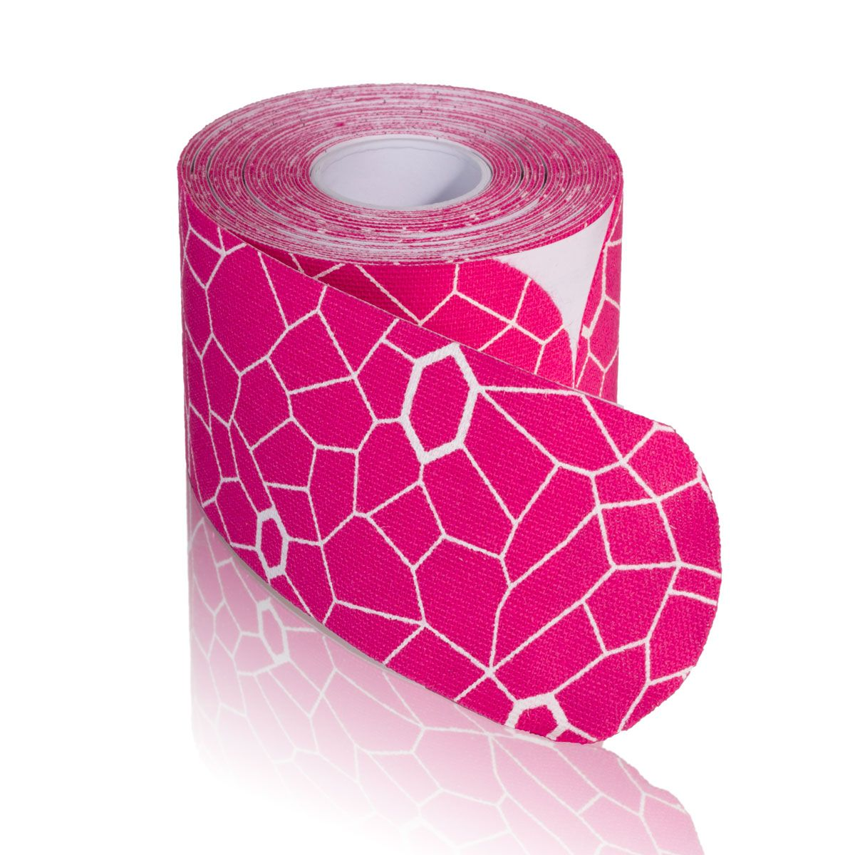 TheraBand Kinesiology Tape, 20 pack, 2 in x 10 in, Pink/White