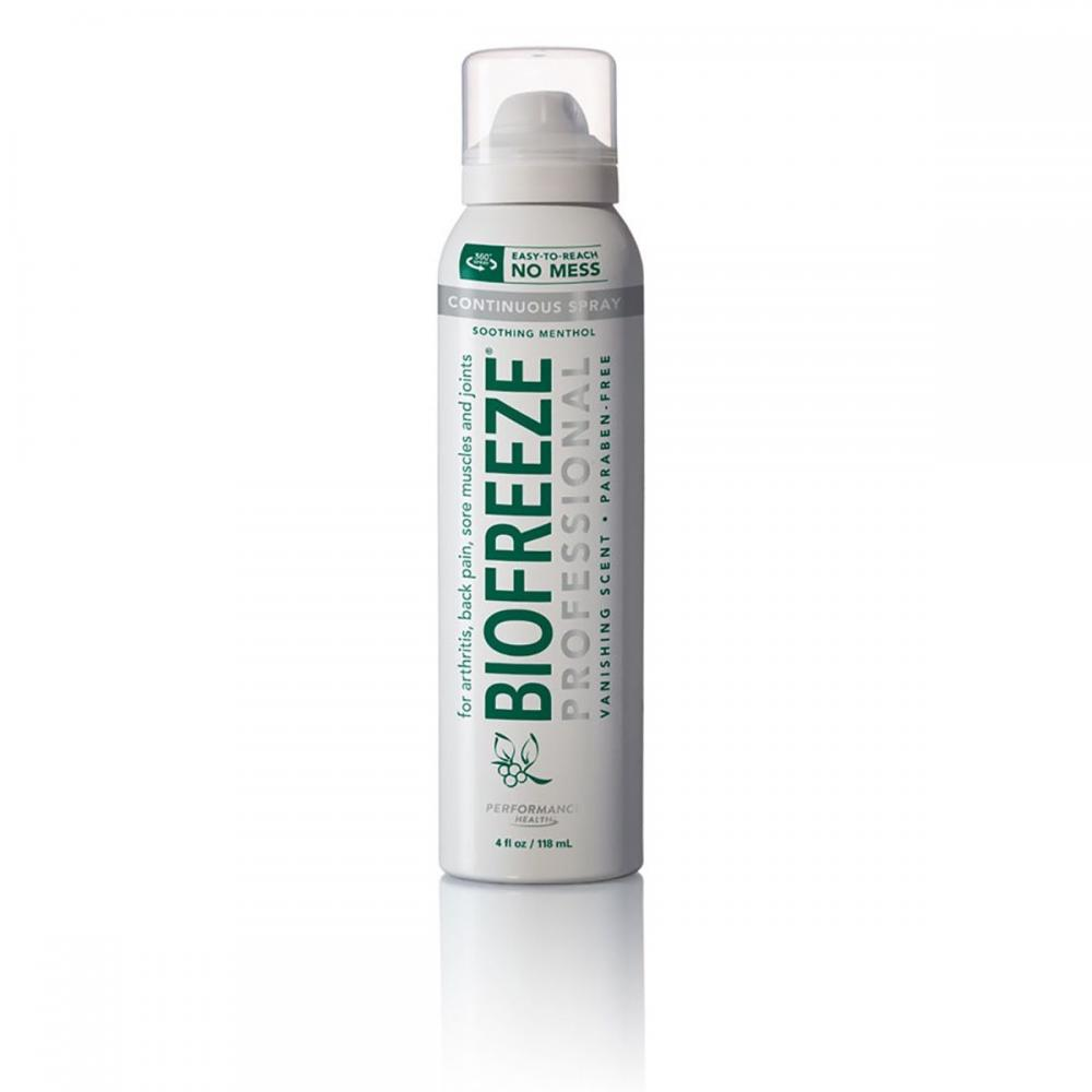 Biofreeze Professional - 4 oz. 360 degree Spray - Colorless