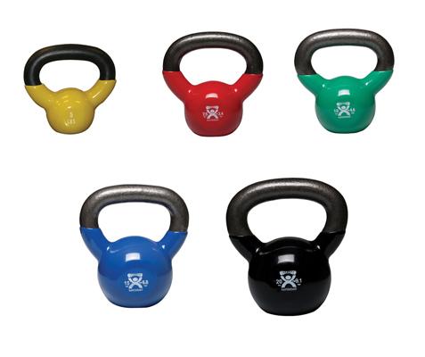 CanDo Kettlebells, 5-piece set (1 each: 5, 7.5, 10, 15, 20 lb)