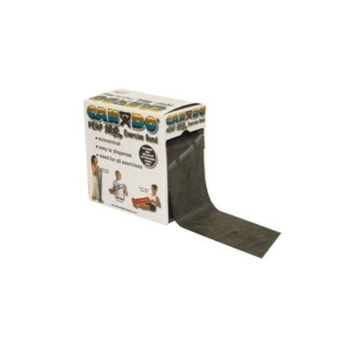Cando exercise band, black, 100 yard perforated every 5 ft, low