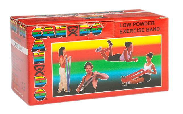 CanDo Low Powder Exercise Band - 6 yard roll - Red - light