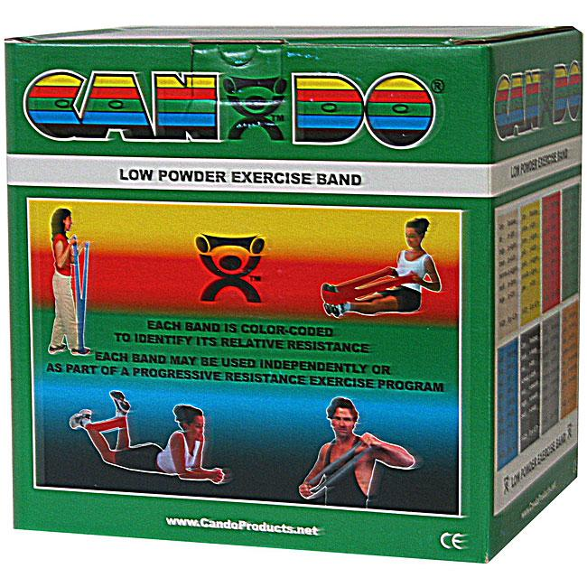 Cando Low Powder Exercise Band - 50 Yard - Green - medium