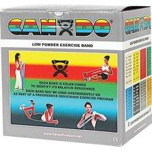 Cando Low Powder Exercise Band - 50 Yard - Silver - XX-heavy