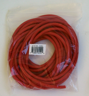 Cando Low Powder Exercise Tubing - 25 feet - Red - light