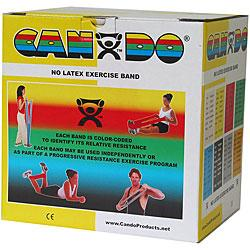 Cando No Latex Exercise Band - 50 Yard - Yellow - X-light