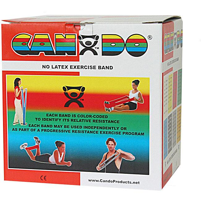 Cando No Latex Exercise Band - 50 Yard - Red - light