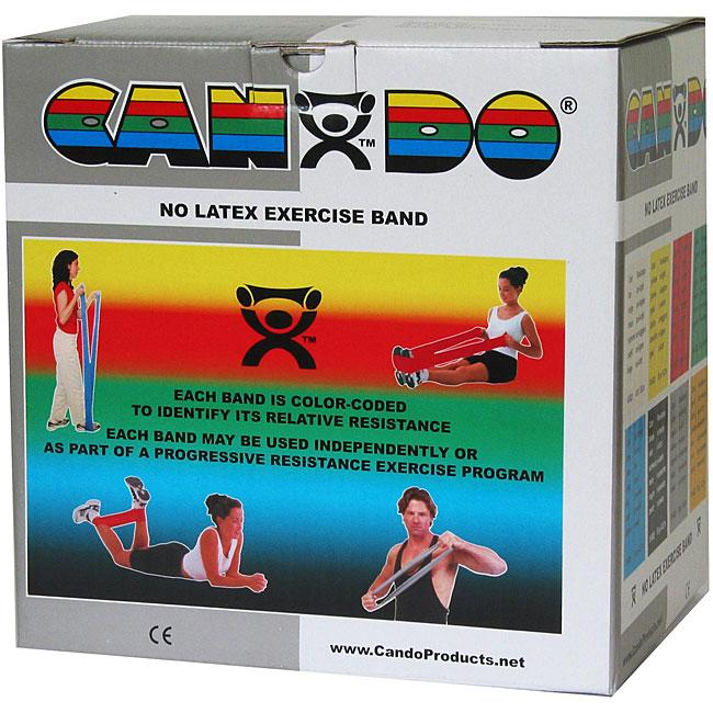 Cando No Latex Exercise Band - 50 Yard - Silver - XX-heavy