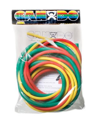 Latex-Free Exercise Tubing - PEP Pack - Easy (Yellow, Red, Green)