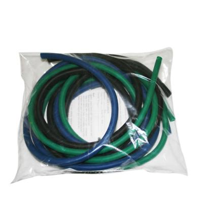 Latex-Free Exercise Tubing - PEP Pack - Moderate (Green, Blue, Black)