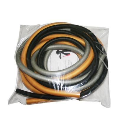 Latex-Free Exercise Tubing - PEP Pack - Difficult (Black, Silver, Gold)