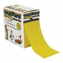 Cando exercise band, yellow, 100 yard perforated every 5 ft late