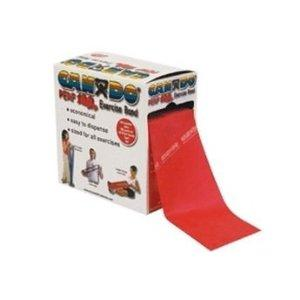 Cando exercise band, red, 100 yard perforated every 5 ft latex-f