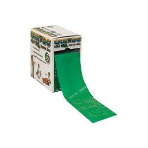 Cando exercise band, green, 100 yard perforated every 5 ft latex