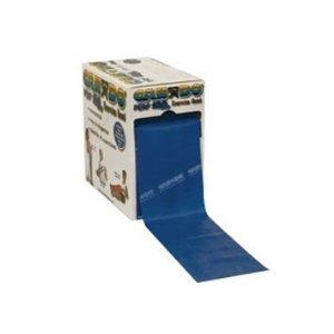 Cando exercise band, blue, 100 yard perforated every 5 ft latex-
