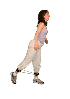 Cando Exercise Tubing with Ankle Cuffs Exerciser - 35 inch - Gre