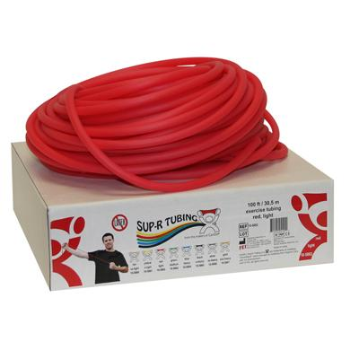 Sup-R Tubing latex-free tubing, RED, 100 feet - LIGHT