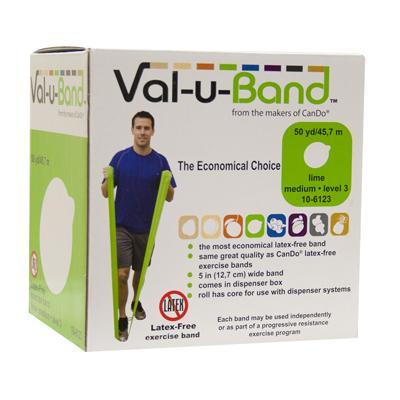 Val-u-Band Latex Free Exercise Band, 50 yard Lime