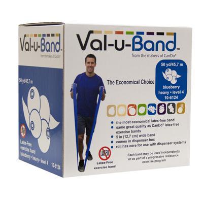 Val-u-Band Low Powder Exercise Band, 50 yard - Blueberry (level 4/7)