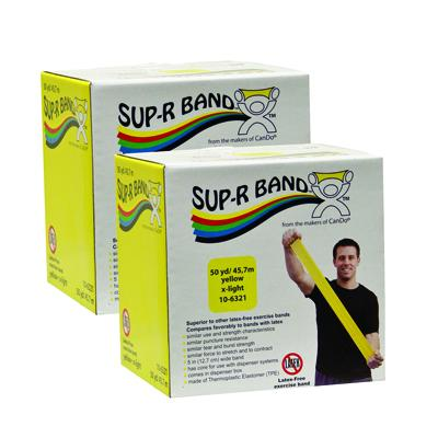 Sup-R Band Latex-Free Exercise Band - Twin-Pak - 100 yard - (2 - 50 yard boxes) - Yellow