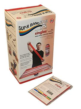 Sup-R Band 5-foot Singles (30 piece dispenser) - Red