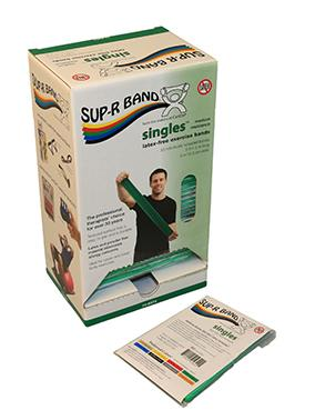 Sup-R Band 5-foot Singles (30 piece dispenser) - Green