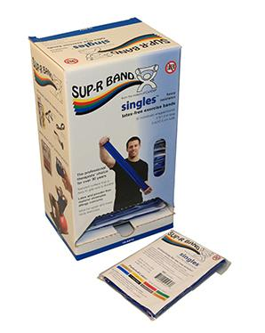 Sup-R Band 5-foot Singles (30 piece dispenser) - Blue