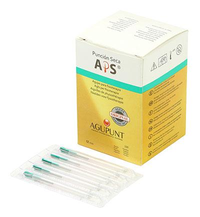 APS Dry Needling Needle, 0.16 x 25mm, Green Tip, 100/Box