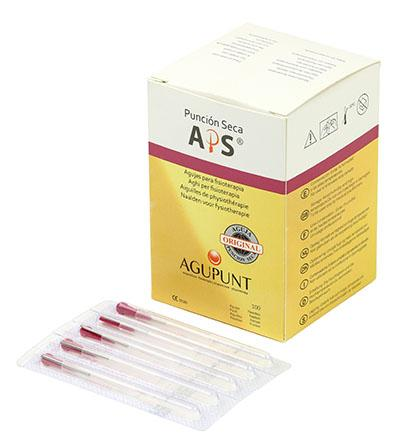 APS Dry Needling Needle, 0.25 x 13 mm, Dark Pink Tip, 100/Box