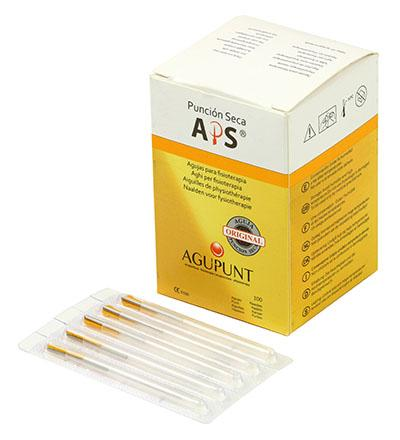 APS Dry Needling Needle, 0.30 x 30mm, Gold Tip, 100/Box