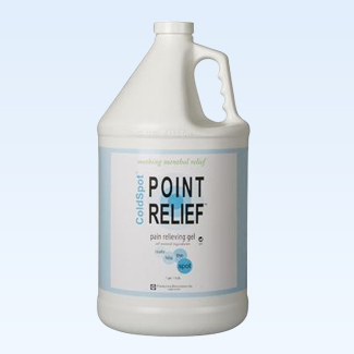 Point Relief ColdSpot gel pump, 128 ounce (1 gallon)