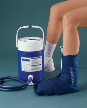 AirCast medium foot Cryo/Cuff w/ gravity feed cooler