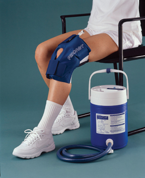 AirCast medium knee Cryo/Cuff w/ gravity feed cooler