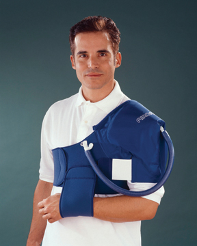 AirCast shoulder Cryo/Cuff, XL strap w/ gravity feed cooler