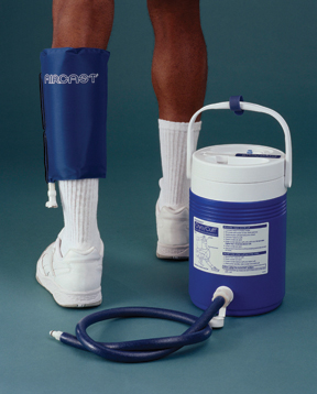 AirCast calf Cryo/Cuff w/ gravity feed cooler