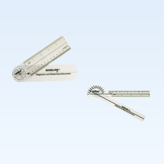 Baseline HiRes 180 degree clear plastic pocket goniometer, 6 inc