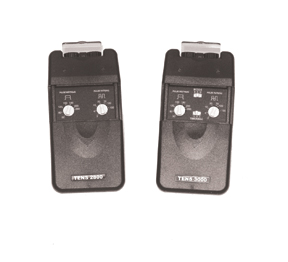 Dual channel TENS with timer, 3-function, complete