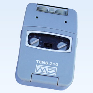 TENS 210T 2-channel w/timer, accessories and carry case