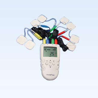 Digital 4-channel EMS/TENS unit, portable/battery or AC adapter