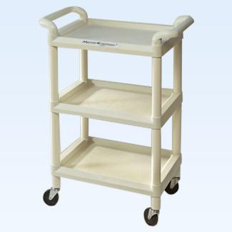 Mettler 73 plastic 3-shelf cart